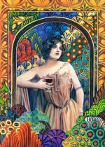 Пазлы Castorland Девушка с бокалом вина