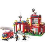 Конструктор «Пожарная часть» 380 деталей Brick 910
