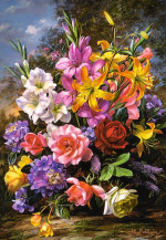 Пазлы castorland Ваза с цветами
