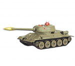 Радиоуправляемый танк ABToys Т34 1:64 со звуковыми и световыми эффектами