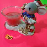 Керамическая сувенирная Мышка со свечой