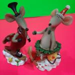 Керамические сувенирные Мышки на снегу