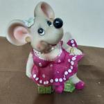 Керамическая сувенирная Мышка копилка
