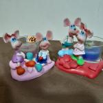 Керамические сувенирные Мышата со свечкой