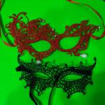 Карнавальная маска на пол лица из кружева