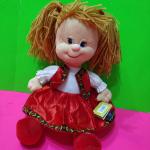 """Мягкая игрушка """"ДЕВОЧКА"""" в красном платье"""