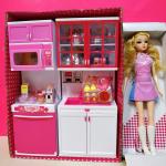"""Игровой набор """"Кукла с кухней"""""""
