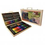 Художественный набор для творчества(220 предметов) в деревянном чемоданчике