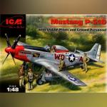 P-51D Mustang Американский истребитель с пилотами и техниками