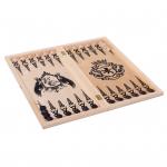 Игра 3 в 1 большая Рыцари (нарды, шахматы (дерево), шашки) 255-18