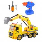 Конструктор грузовик-экскаватор с отвёрткой и шуруповёртом на радиоуправлении