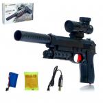 Пистолет с гелиевыми пулями, работает от АКБ, арт.G920A