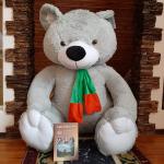 """Медведь """"Добряк Гигант"""" серый 190 см"""