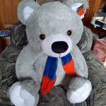"""Медведь """"Добряк Большой"""" серый 135 см"""