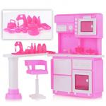 """Кукольная кухня """"Конфетти"""",розовая"""