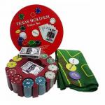 Покерный набор 240 фишек Texas Holdem